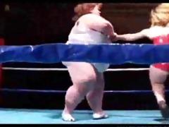 biggest boob big beautiful woman wrestles a