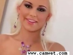 platinum golden-haired minx lola myluv teases and