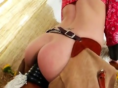 brutal arse three-some with cowboy