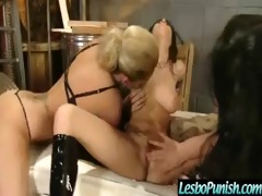 lesbos gals acquires punished and screwed vid-11