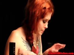 redhead sadomasochism lesbo sub spanked
