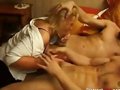 french older fastened in m/f group sex
