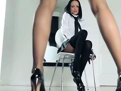 sexy schoolgirls strip herself in panties