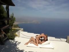 lesbo paramours enjoying breathtaking sex