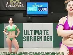 wrestling and fucking lesbian babes