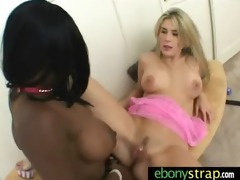 interracial lesbian babes fuck with a dong 21