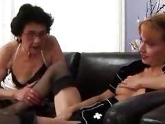 grandma and youthful lesbian babes xlx
