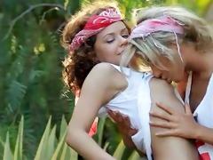 ultra fleshly lesbo licking in public