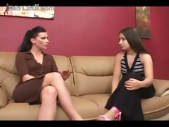 lesbo boss eats out her intern