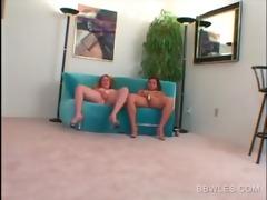 hawt big beautiful woman lesbians vibing clits in