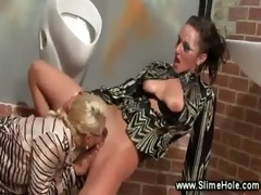 lesbo carpet munching at the gloryhole