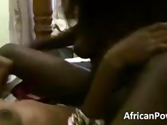 sexy amateur african lesbian babes play with