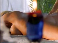 beach side lesbian massage