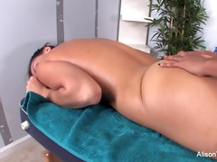 hot skin uses her fingers and throat to massage