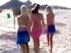 college girlfriends on the beach