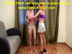 lesb coach seduces shy gymnast
