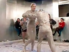 sexually excited mud fighting euro sweethearts