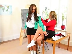 ultra breasty teacher lesbo sweethearts teasin