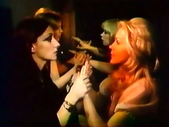 flawless retro lesbos with fake penis