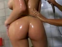 rachel receives a soapy massage