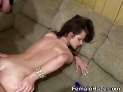 college gals receive hazed together in pile at