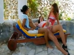 russian ultra sexy lesbo three-some