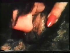 vintage unshaved lesbo vibrator show!