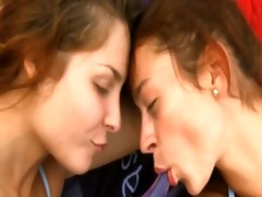 lesbos with anal dildo on public beach