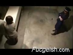 lesbo oriental sluts in prison fucking in a cell
