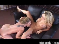 blonds having sex on the sofa