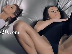 sweethearts in hose group-sex with strap on
