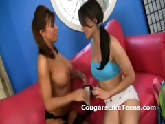 lesbo cougar seduces virginal legal age teenager