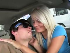 lewd chicks engulfing penis in car