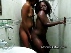 sexy afro chicks aisha and lisha acquire indecent