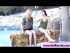 wazoo licking rimjob lesbian angels