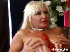 milfs fuck themselves with a biggest dildo