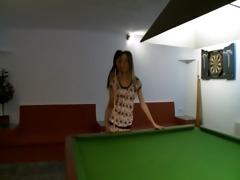 mind boggling lesbs in shoes on billiards