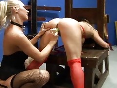 2 astonishing lesbos in a nylons banging every oth