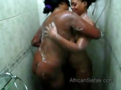 hawt booty african lesbian babes widen soap on