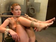 hot golden-haired lesbo dominant-bitch with great