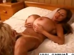 breasty lesbo blond with large bazookas