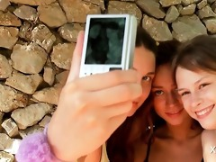 lesbian trio with legal age teenager angels