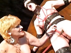 lesbo male tit whipping and girlie cruelty