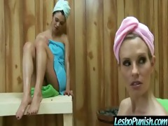 hawt sexy harlots lesbian babes acquire hard toy