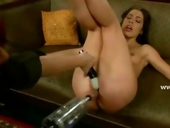 angel has her cum-hole roughly screwed by several