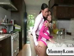 large titted teen and her stepmom lesbosex and